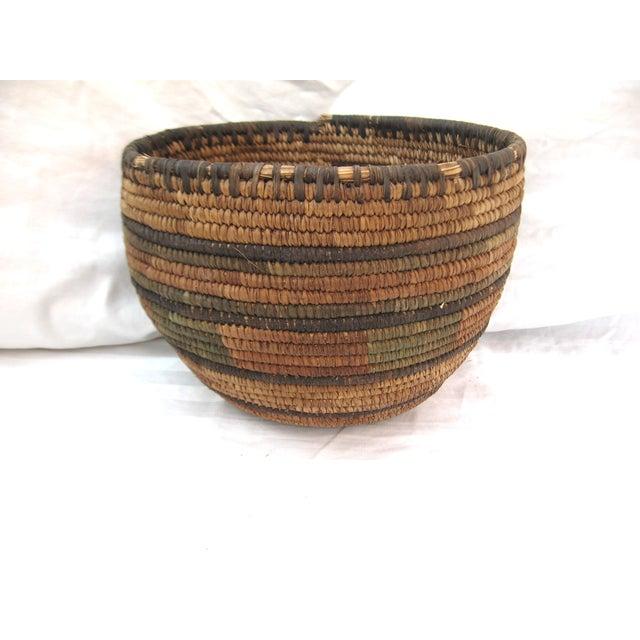 Native American Hand Woven Basket - Image 3 of 7