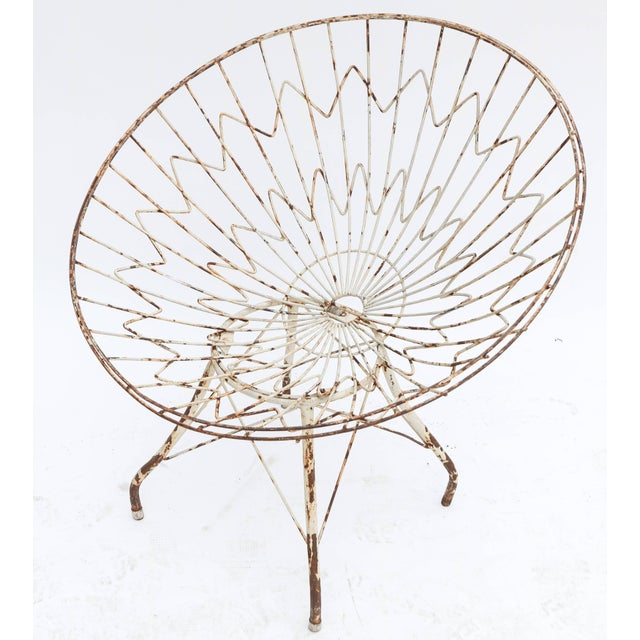 Boho Chic Round Metal Outdoor Garden Chairs - a Pair For Sale - Image 3 of 8
