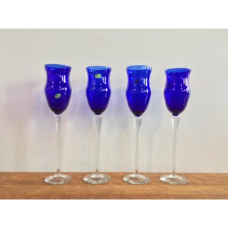 Vintage Murano Glass Sapphire Blue Decorative Goblet Preview
