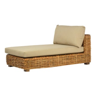 Jumbo Rattan Weave Lounge Chair For Sale