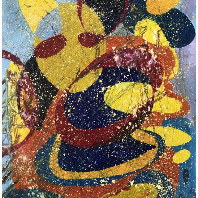 Jennifer Mack Abstract Splatter Painting For Sale - Image 4 of 6