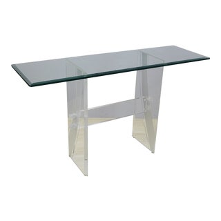 Vintage Lucite Console Table For Sale