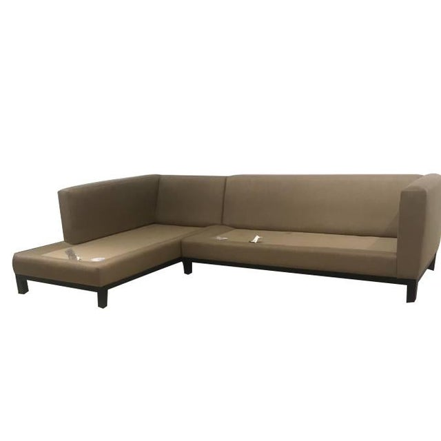 Crate & Barrel Sectional Sofa For Sale - Image 10 of 11