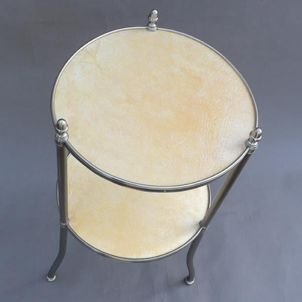 American De Wolfe Muffin Table - Nickel For Sale - Image 3 of 4