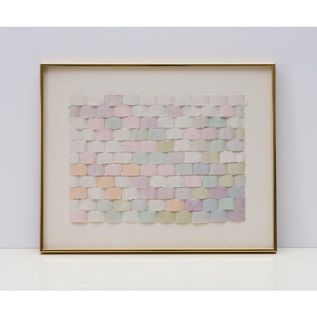 Framed Collage Woven Paper Ribbon Wall Art For Sale In Richmond - Image 6 of 6