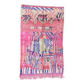 Moroccan Boujad Pink Rug For Sale