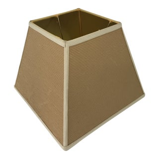 Vintage Square Corrugated Cardboard Lamp Shade For Sale