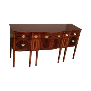 Kindel Winterthur Collection Mahogany Inlaid New York Sideboard (B) For Sale