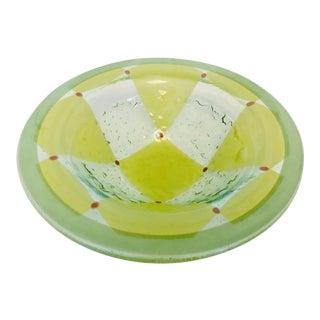 """Venini """"Pezzato"""" Murano Glass Bowl Italy 1960s Mid Century Modern For Sale"""