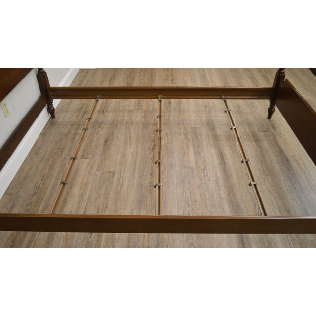 Ethan Allen Georgian Court Solid Cherry Queen Poster Bed For Sale - Image 11 of 13