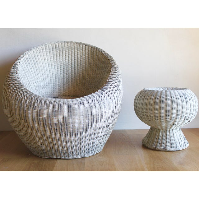 Isamu Kenmochi for Yamakawa Japan Rattan Lounge Chair & Side Table For Sale - Image 13 of 13