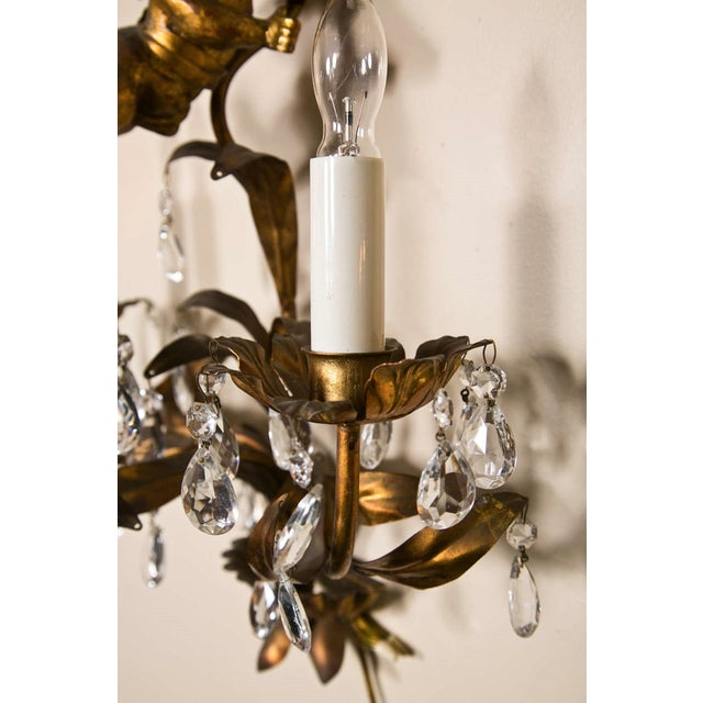 Baroque French Gilt-Brass 3-Light Wall Sconces - A Pair For Sale - Image 3 of 8