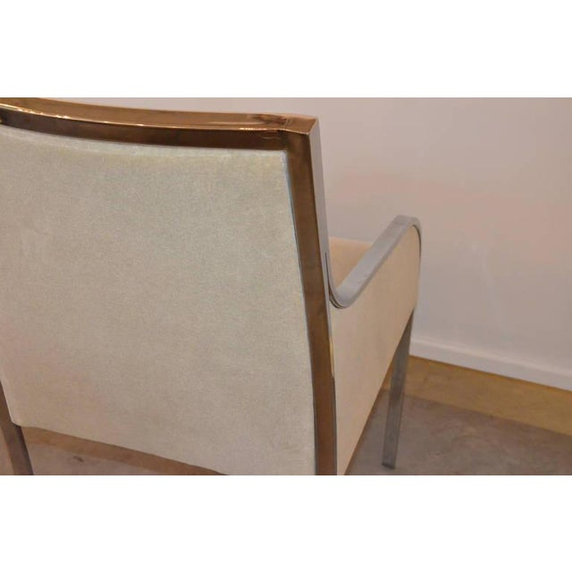 S/6 Mid Century Modern Chrome and Upholstery Pierre Cardin Dining Chairs / Side Chairs - Image 3 of 12