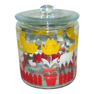 1950s Hazel Atlas Spring Animal Jar For Sale