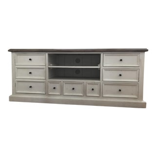 French Country White Console