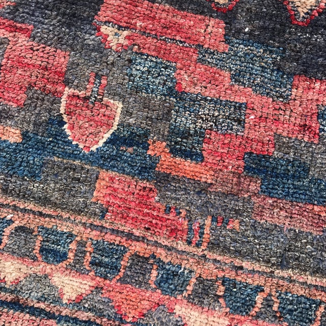 """Textile Vintage Unique Persian Patterned Wool Rug 4'3"""" X 5'10"""" For Sale - Image 7 of 13"""