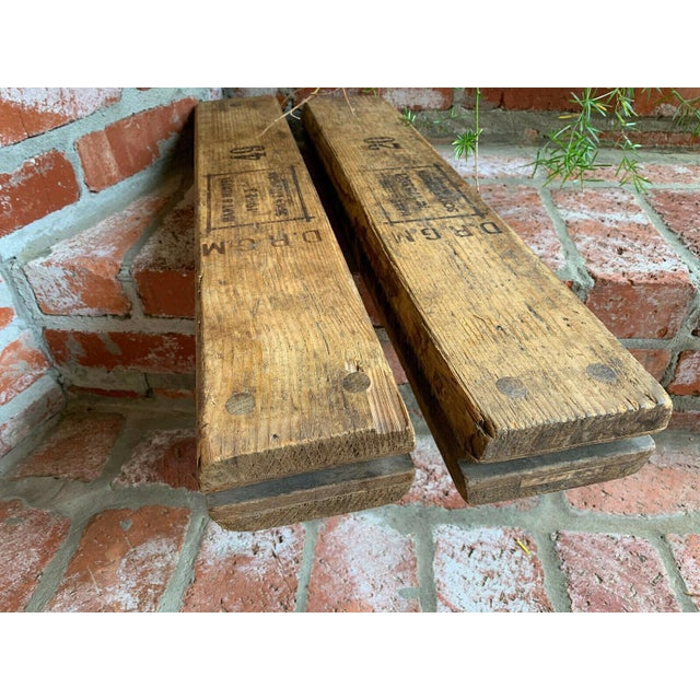 Antique German Wood Cigar Molds - a Pair For Sale - Image 11 of 13