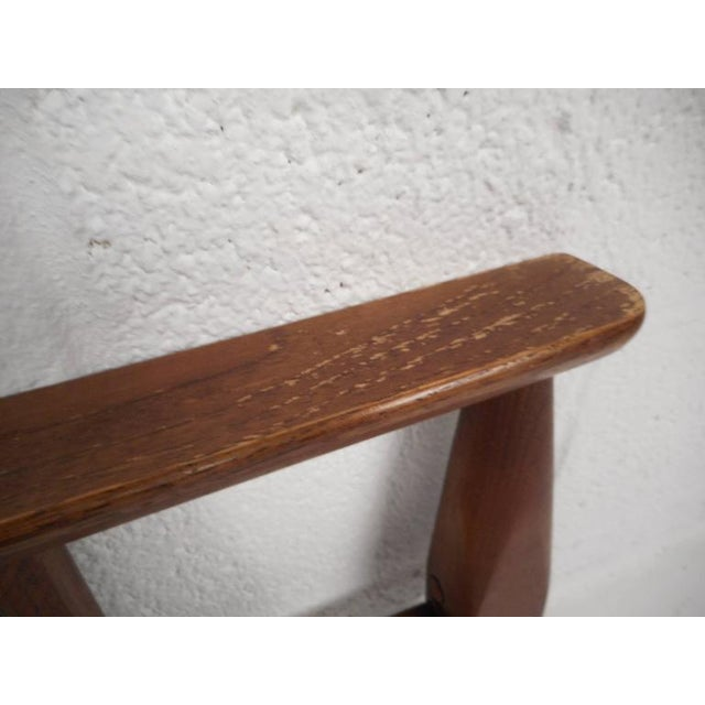 Mid-Century Modern Queen Size Bookshelf Headboard and Footboard - Image 6 of 9