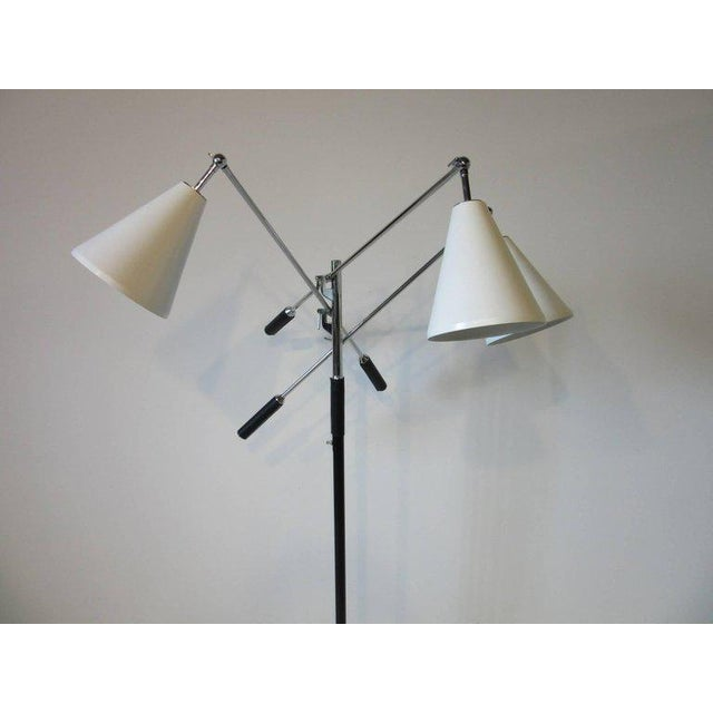 Animal Skin Italian Triennale Floor Lamp in the style of Angelo Lelli For Sale - Image 7 of 8