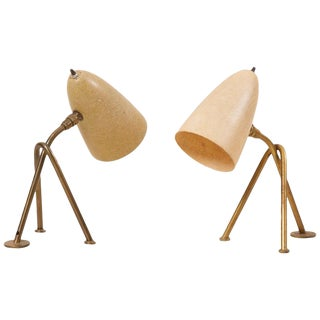 "Pair of ""Grasshopper"" Table Lamps by Greta Grossman for Ralph O. Smith, Us 1950s For Sale"