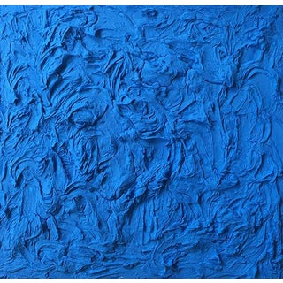 """Cobalt Wave"" Mixed Media Painting by Anne Harper For Sale"