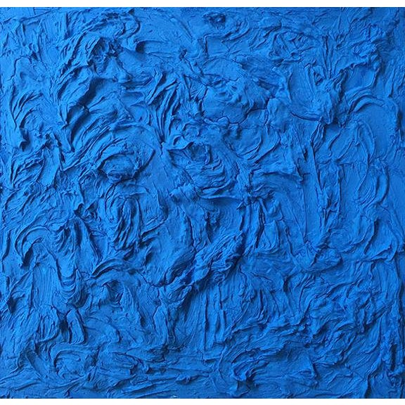 """""""Cobalt Wave"""" Mixed Media Painting by Anne Harper For Sale"""