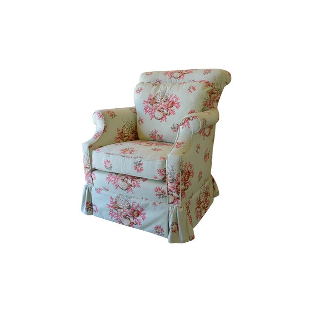 Scalamandre Chintz Upholstered Club Chair - Image 2 of 6