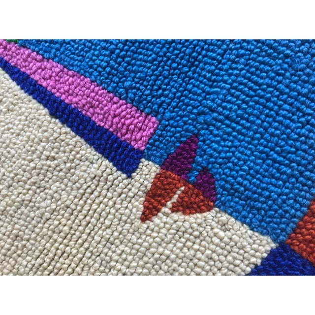 Limited Edition Female Abstract Color Block Rug Wall Hanging Textile For Sale - Image 4 of 6