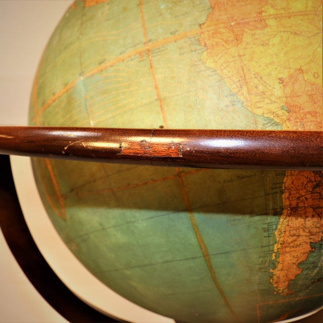 Early 1900's Williams-Pridham Index Globe For Sale - Image 4 of 12
