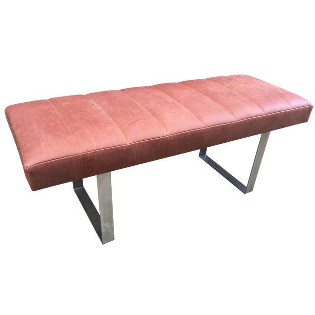 Upholstered Garrett Leather Bench - Image 1 of 7