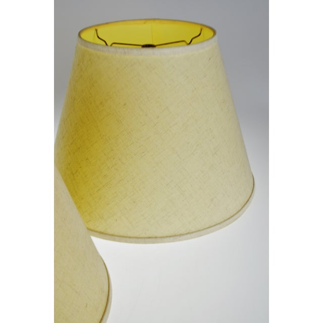 Vintage New Brunswick Linen Empire Shape Lamp Shades - a Pair For Sale - Image 4 of 11