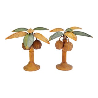 1970's Mario Lopez Torres Palm Tree Lamps - a Pair For Sale