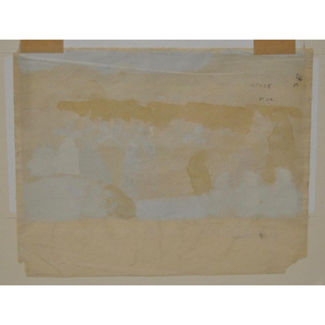 1920s Charles-George Dufresne Original Watercolor For Sale - Image 5 of 5