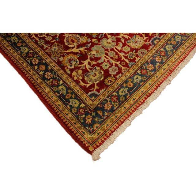 Contemporary Istanbul Sidney Red/Teal Turkish Hand-Knotted Rug -3'2 X 5'1 For Sale - Image 3 of 8