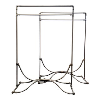 Steampunk Bronze Garment Racks - A Pair