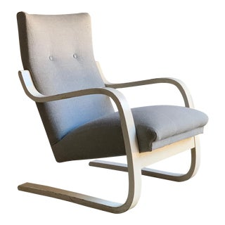 Alvar Aalto Model 401 Lounge Chair By OY Huonekalu-Ja Rakennustyötehdas AB 1938 For Sale