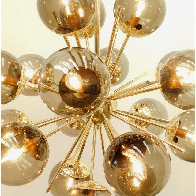 Brass Diciotto Sputnik Chandelier by Fabio Ltd For Sale - Image 7 of 10