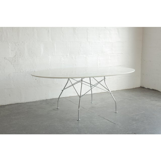 Contemporary Antonio Citterio Oval Glossy Table for Kartell For Sale - Image 3 of 7