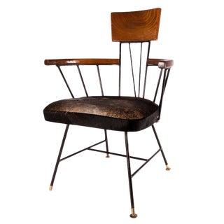 Paul McCobb Mid-Century Modern Ash Iron Armchairs