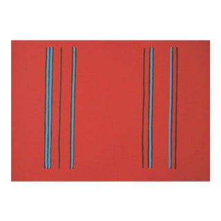 Gene Davis Lilac 1980 For Sale