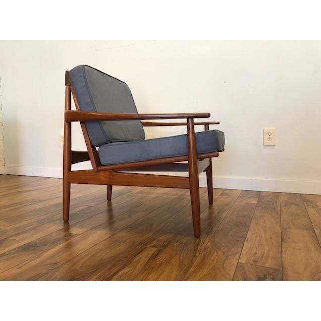 Blue Grete Jalk Danish Teak Lounge Chair For Sale - Image 8 of 13
