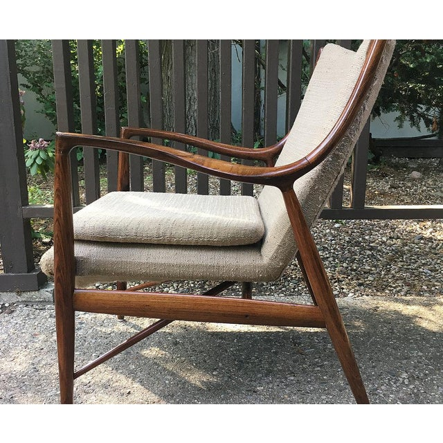 Finn Juhl Vintage Finn Juhl Nv-45 Rosewood Club Chair For Sale - Image 4 of 6