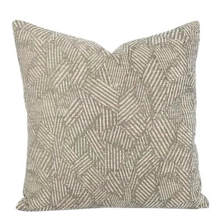 Hodsoll McKenzie Gregory Light Army Green Chenille Pillow Cover For Sale