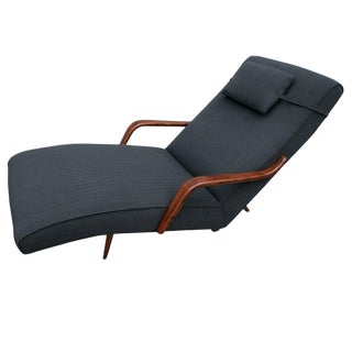 Scapinelli Brazilian Rosewood Chaise Lounge Chair For Sale