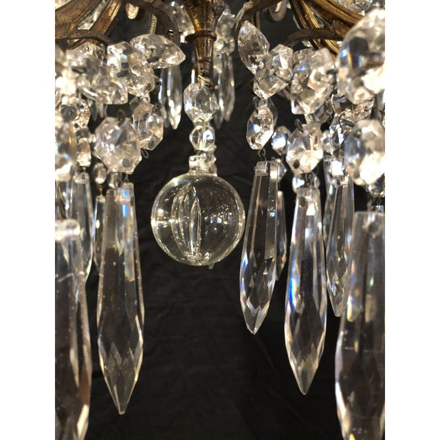 Mid 19th Century French Napoleon III Signed Portieux Crystal Chandelier For Sale - Image 5 of 9