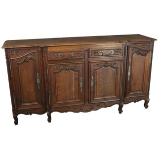 Rococo Sideboard Antique French Louis XV 1900 Oak For Sale