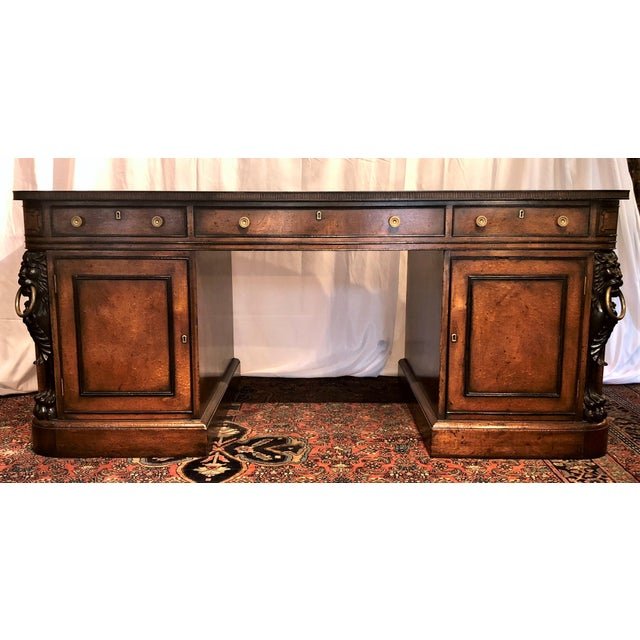 """Antique English Mahogany """"Duke of Wellington"""" Desk, Circa 1910-1920. For Sale In New Orleans - Image 6 of 6"""