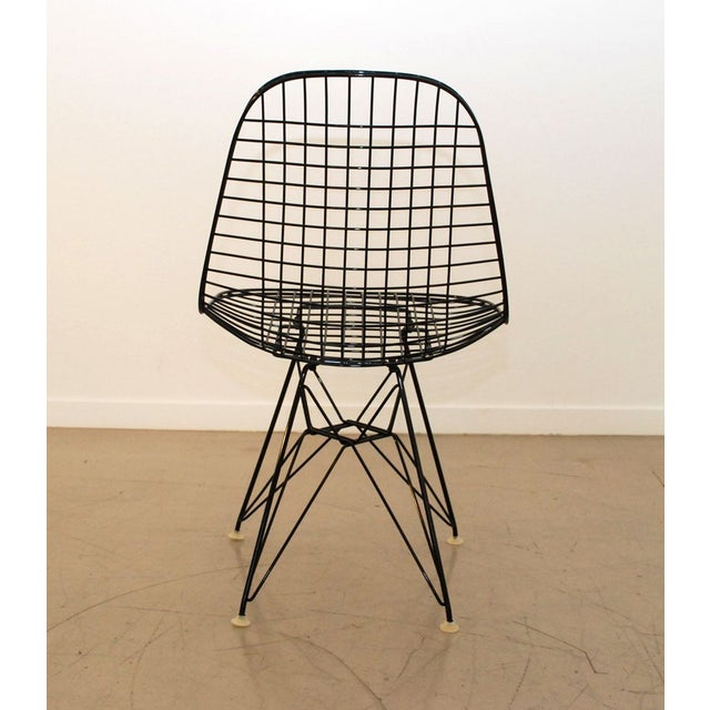 Black Original Eames Wire Chairs - Set of 4 For Sale - Image 5 of 7