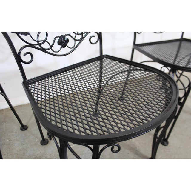 vintage meadowcraft dogwood wrought iron patio dining side chairs set of 4