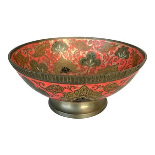 Vintage Brass Painted Bowl For Sale